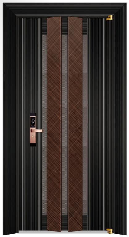 19029 8K 黑钛拉丝+红古铜交叉纹